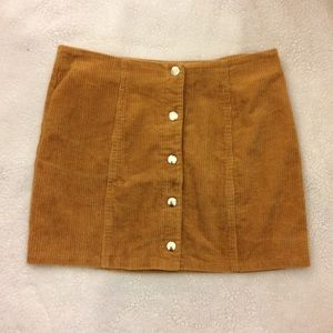 Button up, tan, corduroy Skirt